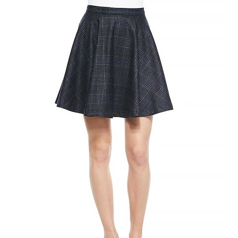 Ivanna A-Line Plaid Swingy Skirt