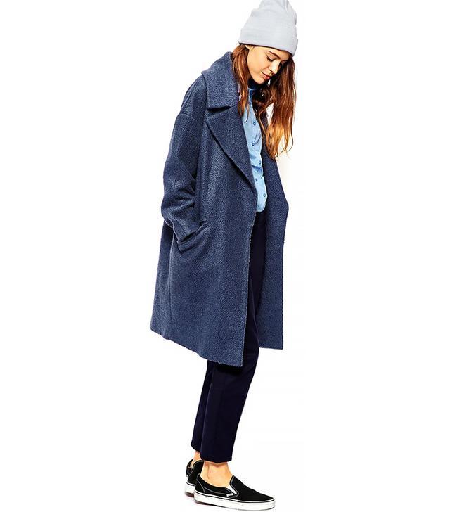 ASOS Slouchy Coat in Texture