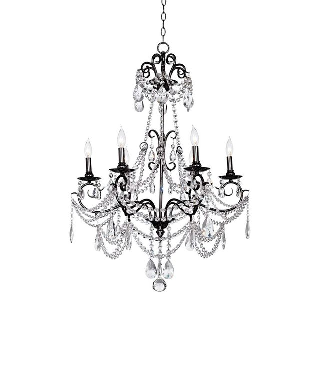 Lamps Plus Vienna Full Spectrum Crystal Black Nickel Chandelier
