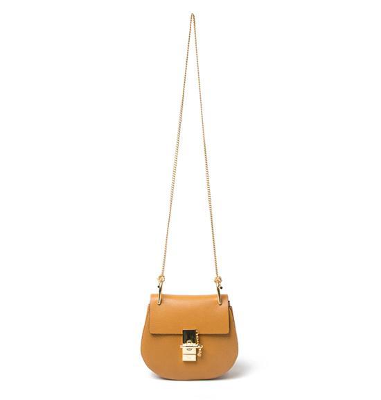 Chloé Small Tan Chain Shoulder Bag