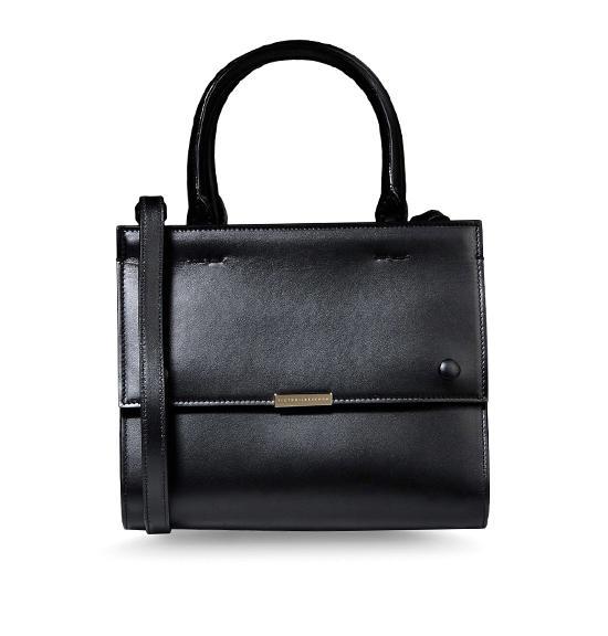 Victoria Beckham Black Leather Mini Tote Bag