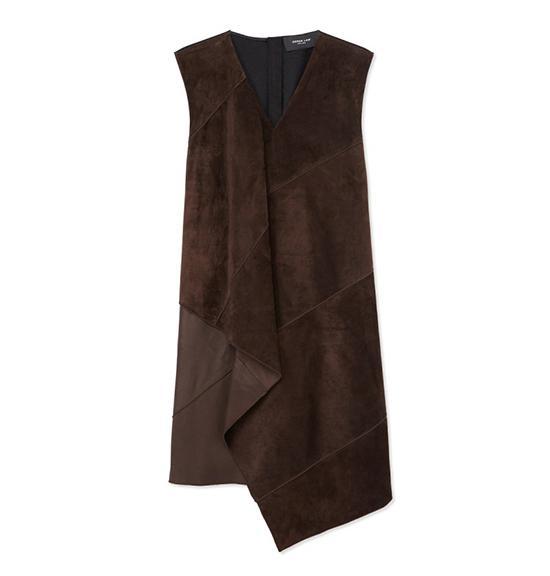 Derek Lam Folded Suede Dress