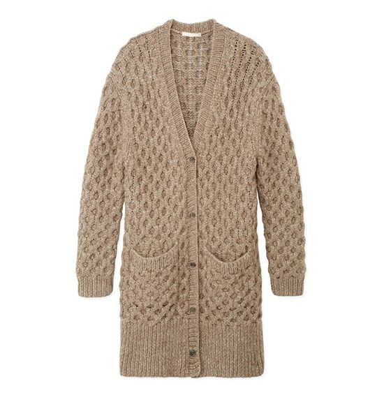 Michael Kors Alpaca Wool Oversized Cardigan