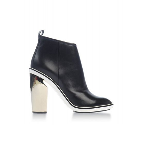 Nicholas Kirkwood Metallic Heel Leather Ankle Boot