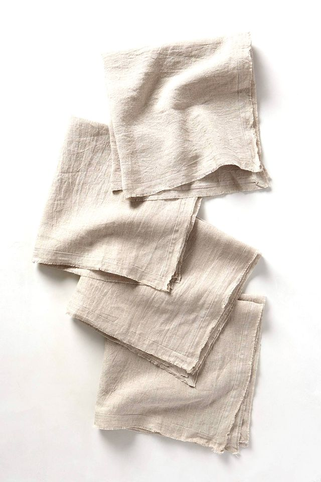 Anthropologie Rustic Linen Napkins