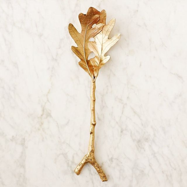 Terrain Oak Leaf Pasta Spoon