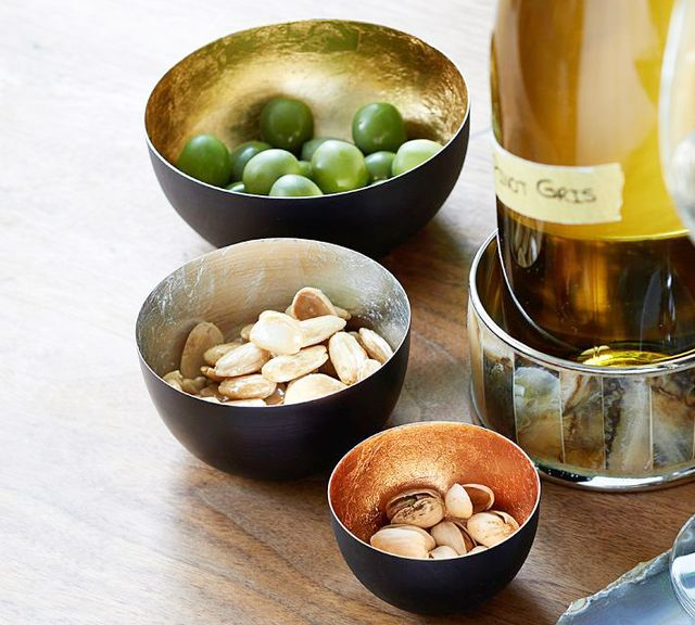 Pottery Barn Metallic Snack Bowls