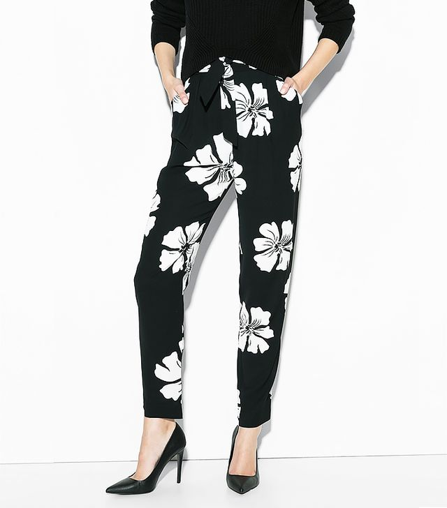 Mango Floral Baggy Trousers
