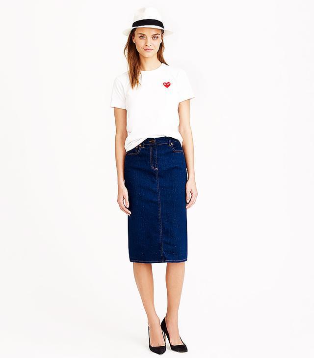 J.Crew Dark Wash Denim Pencil Skirt