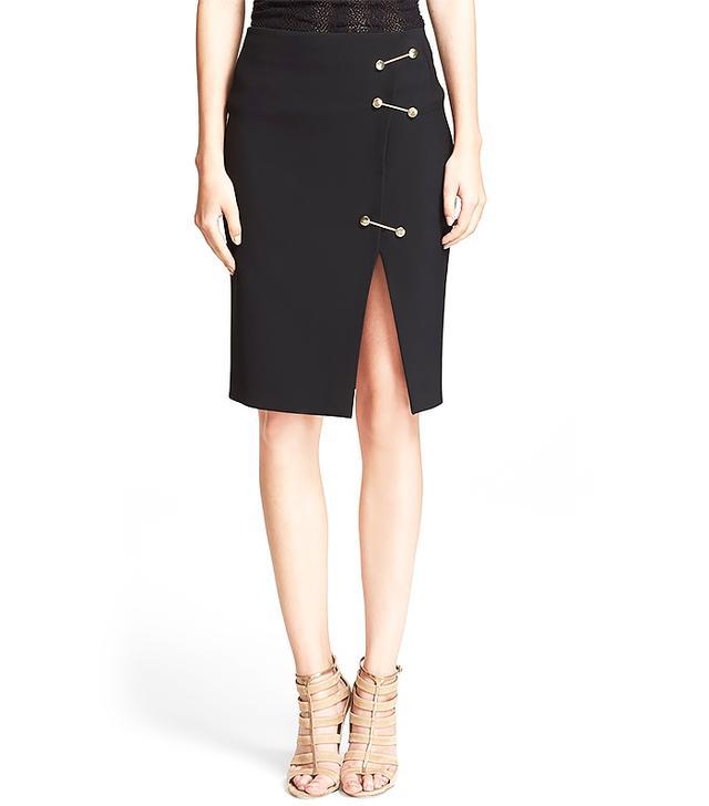 Versace Pin Detail Jersey Skirt
