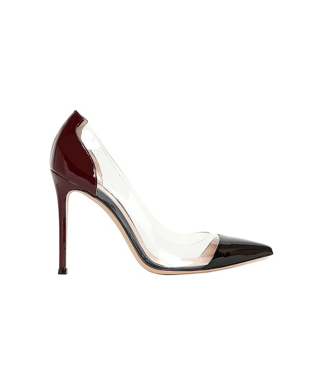 Gianvito Rossi Two Tone Patent Leather Pumps