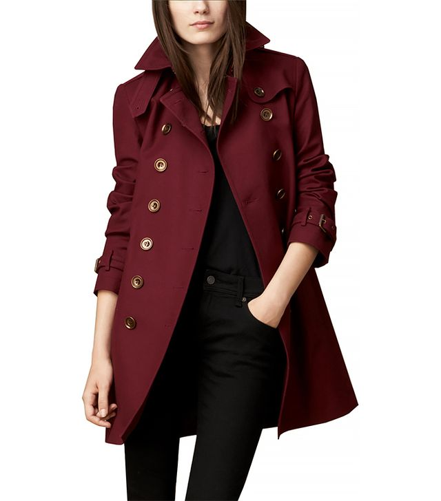 Burberry Showerproof Stretch Cotton Trench Coat