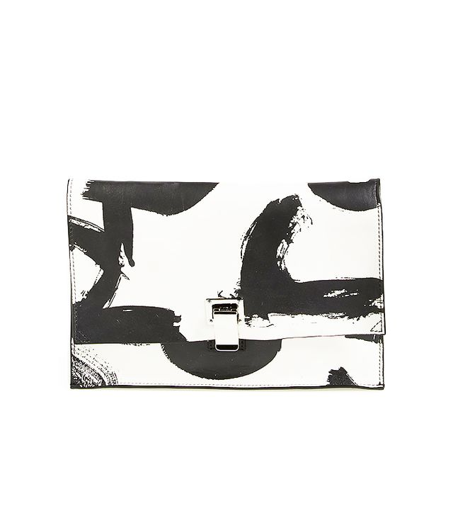 Proenza Schouler Small Lunch Bag Logo Print Clutch