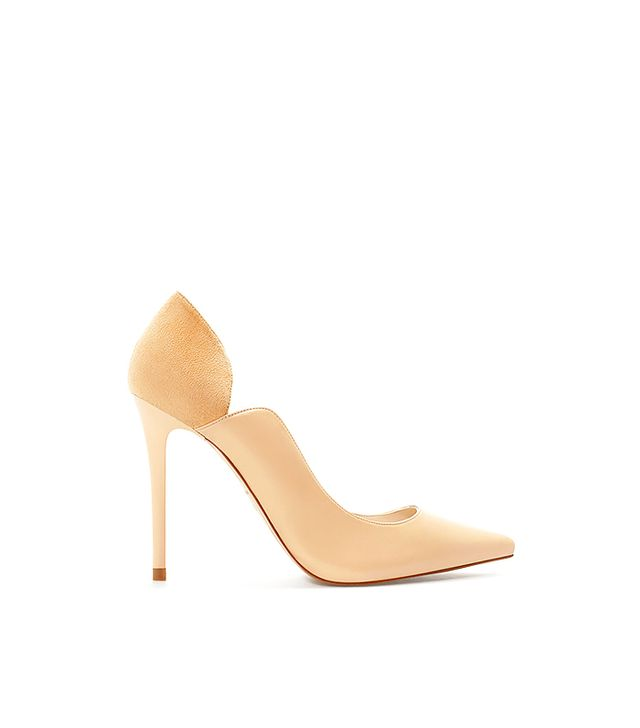 Zara Asymmetric Leather Court Shoes