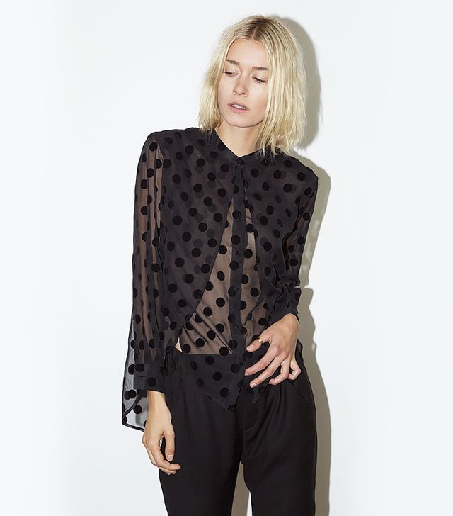 Assembly New York Sheer Long Sleeve Multi Top
