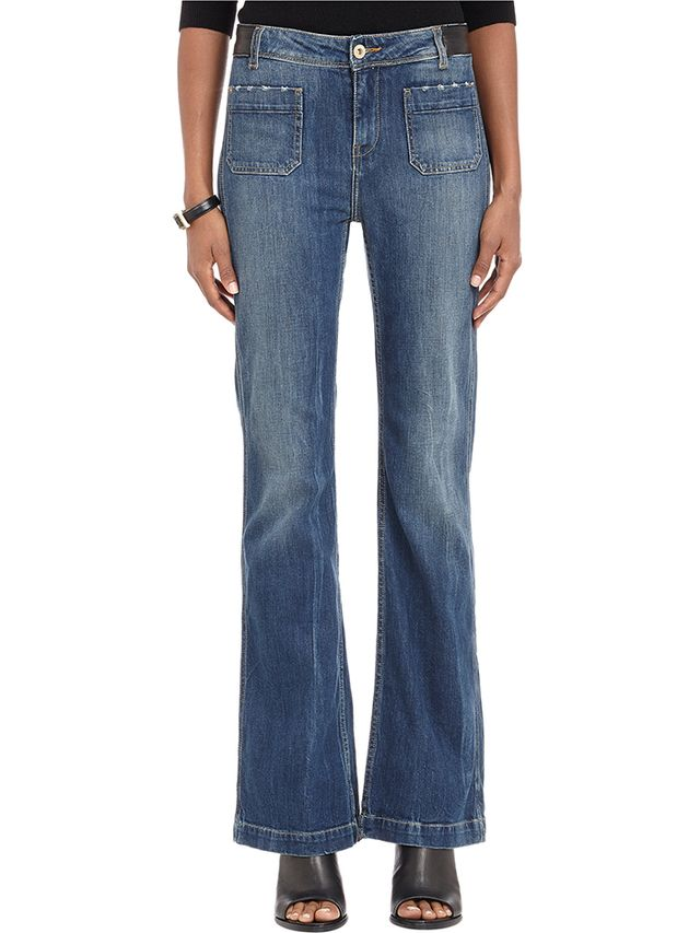 Each x Other Lambskin-Trim Classic Flare Jeans