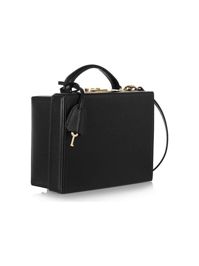 Grace Textured-Leather Box Shoulder Bag
