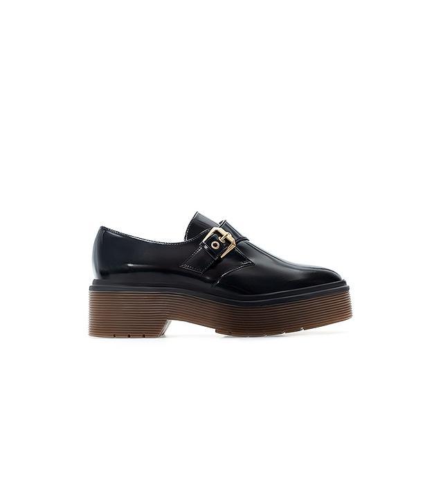 Zara Monk Shoe with Platform Sole