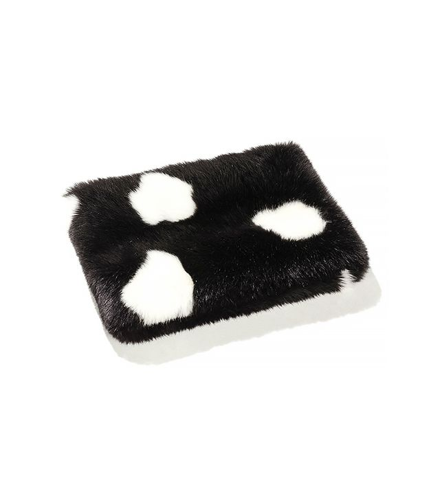 Zara Fur Snood with Contrast Dots