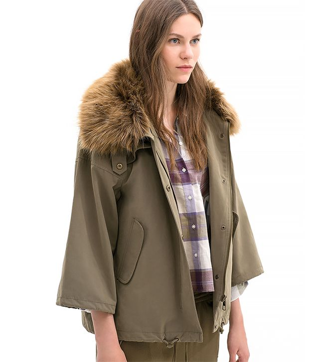 Zara Parka with Faux Fur Collar