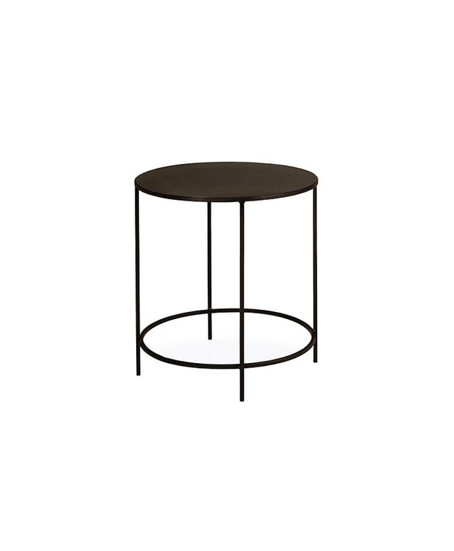 Room & Board Slim Round End Tables in Natural Steel