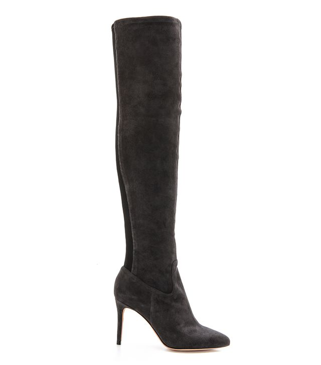 Alexandre Birman Suede Over The Knee Boots