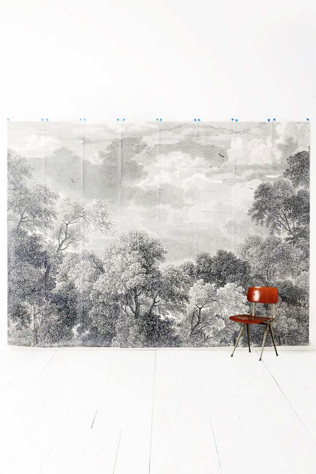 The best places to buy temporary wallpaper online for Anthropologie etched arcadia mural