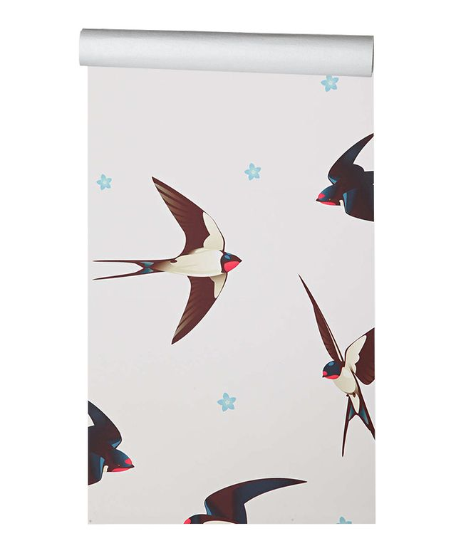 Urban Outfitters Walls Need Love Barn Swallows Removable Wallpaper
