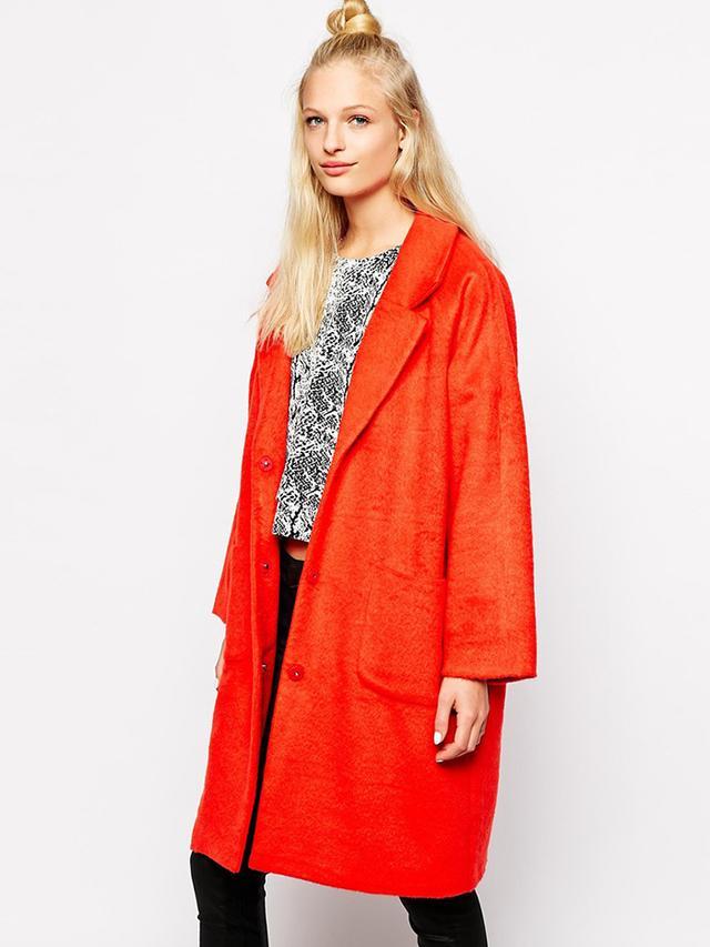 Monki Oversized Cocoon Coat