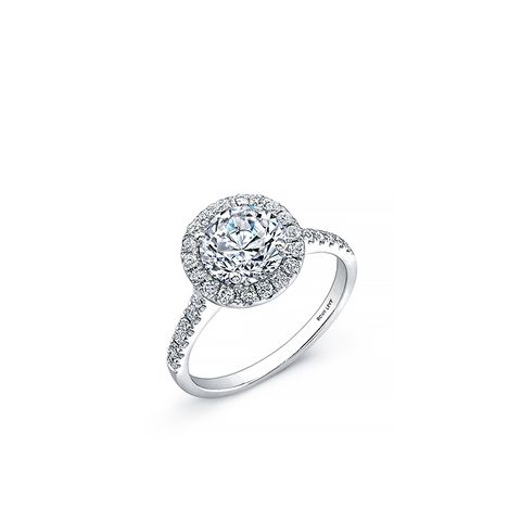 Bridal Pavé Diamond Basket Semi Mount Ring