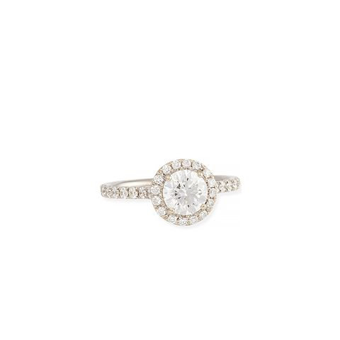 White Gold Center of My Universe Solitaire Diamond Ring