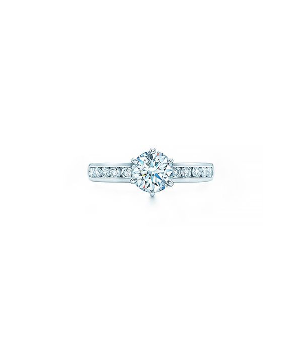 Tiffany & Co. The Tiffany Setting with Diamond Band