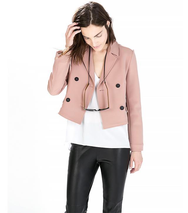 Zara Short Double Breasted Blazer