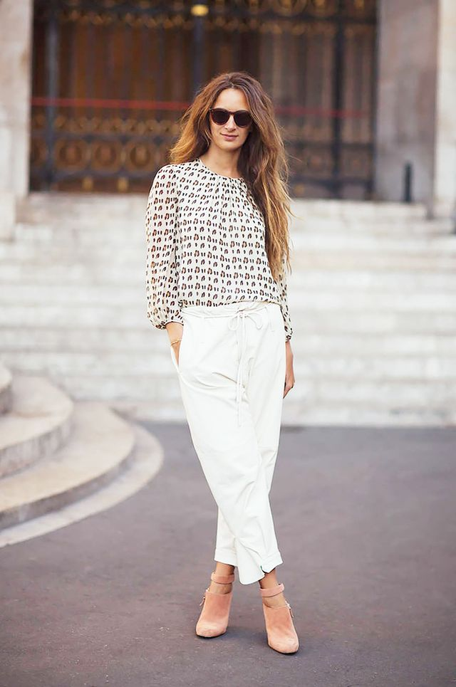 Tip: Try paper bag trousers for a casual look that's still tailored.