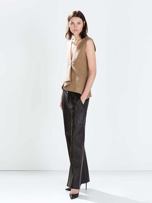Zara Studio Wide Leather Trousers