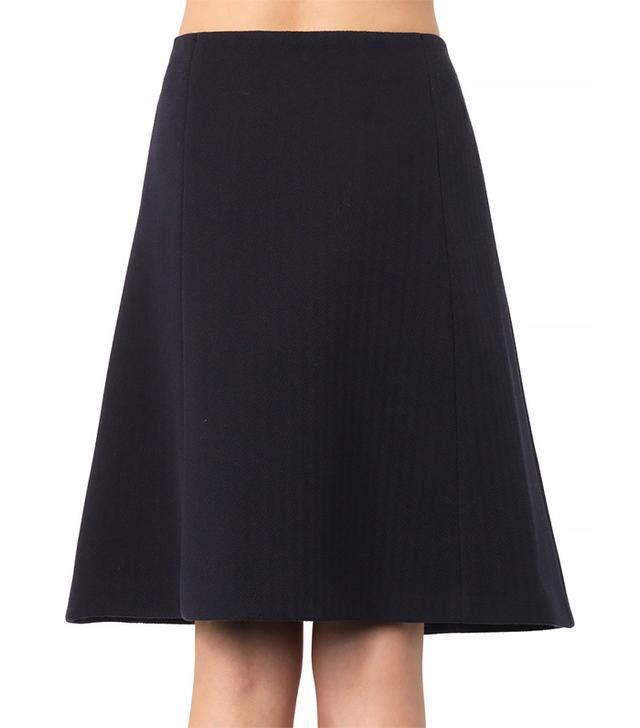 Jil Sander Bonded Cotton-Blend A-line Skirt