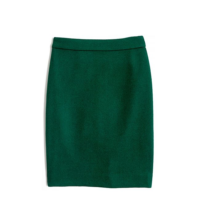 J.Crew Factory Pencil Skirt in Double-Serge Wool