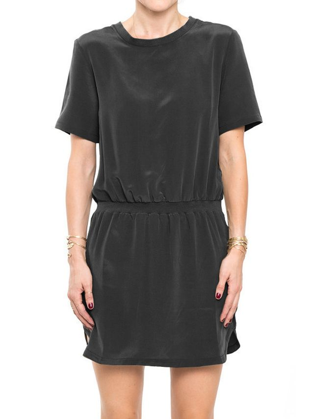 Anine Bing Black Silk Dress