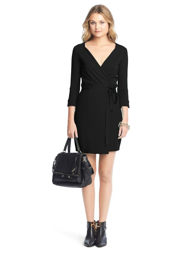 Diane Von Furstenberg New Julian Two Mini Jersey Warp Dress