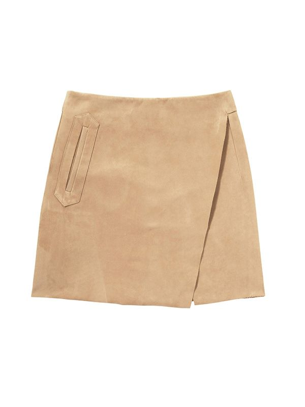 Joe Fresh Sueded Wrap Skirt
