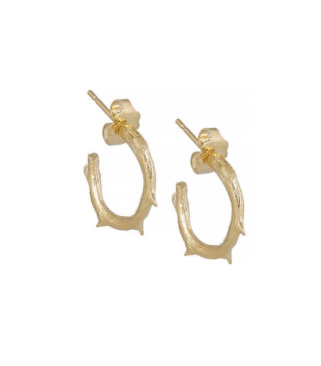 Aurélie Bidermann Rosebud Gold Plated Earrings