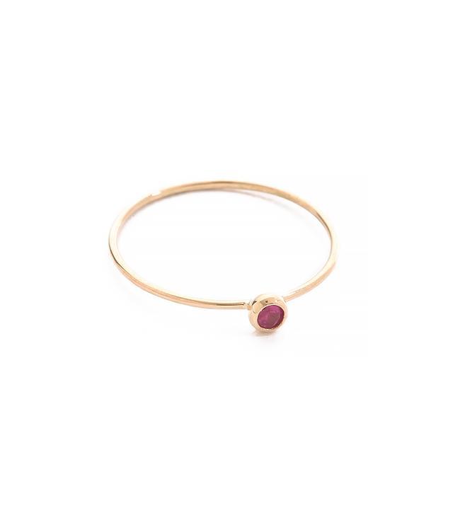 blanca rose gomez Ruby Seed Ring