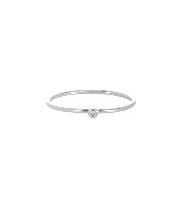 Jennifer Meyer Diamond and White Gold Thin Ring