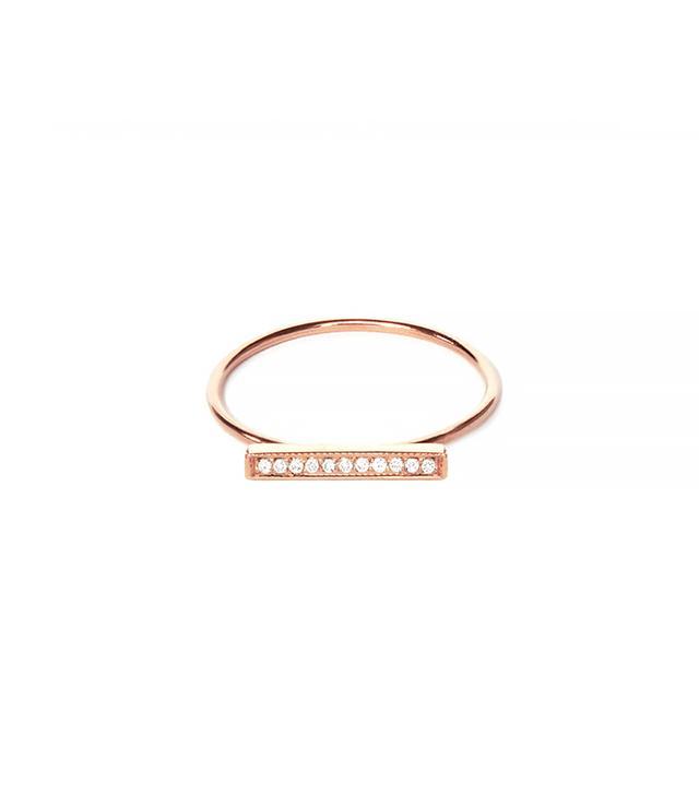 Vrai & Oro Diamond Line Ring