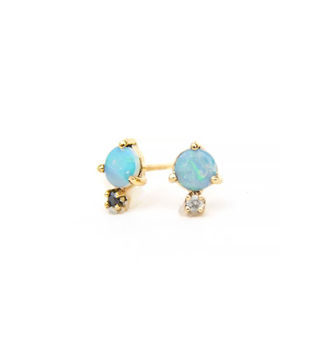 Wwake Classic Opal and Diamond Earrings