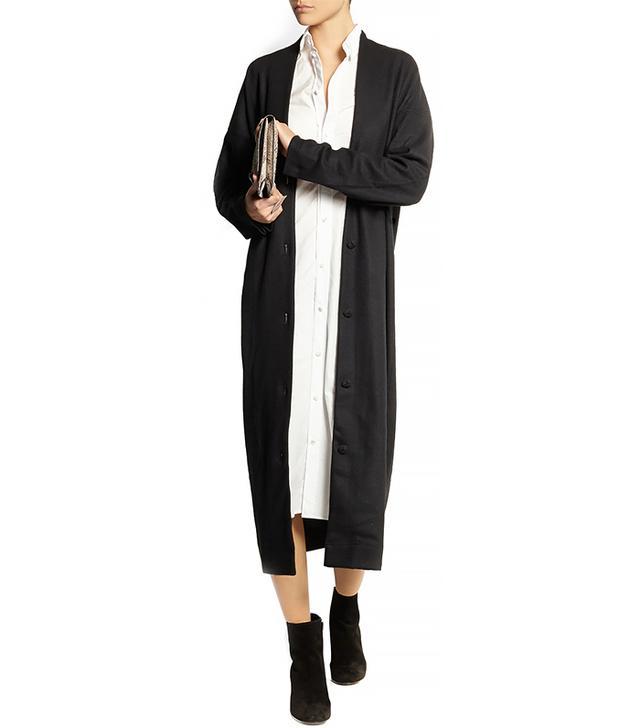 Julien David Long Double-Faced Wool-Jersey Cardigan