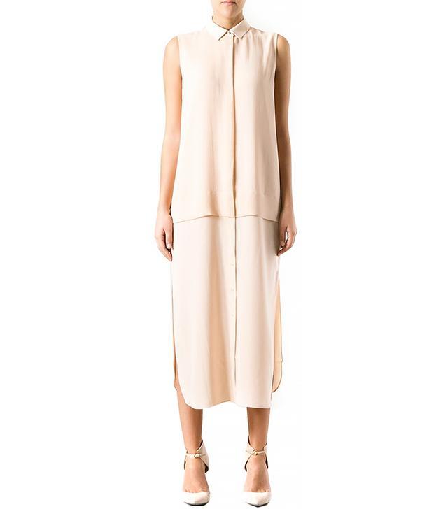 T by Alexander Wang Long Sleeveless Shirt Dress
