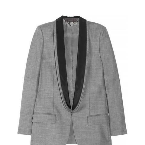 Wool and Satin Twill Tuxedo Jacket