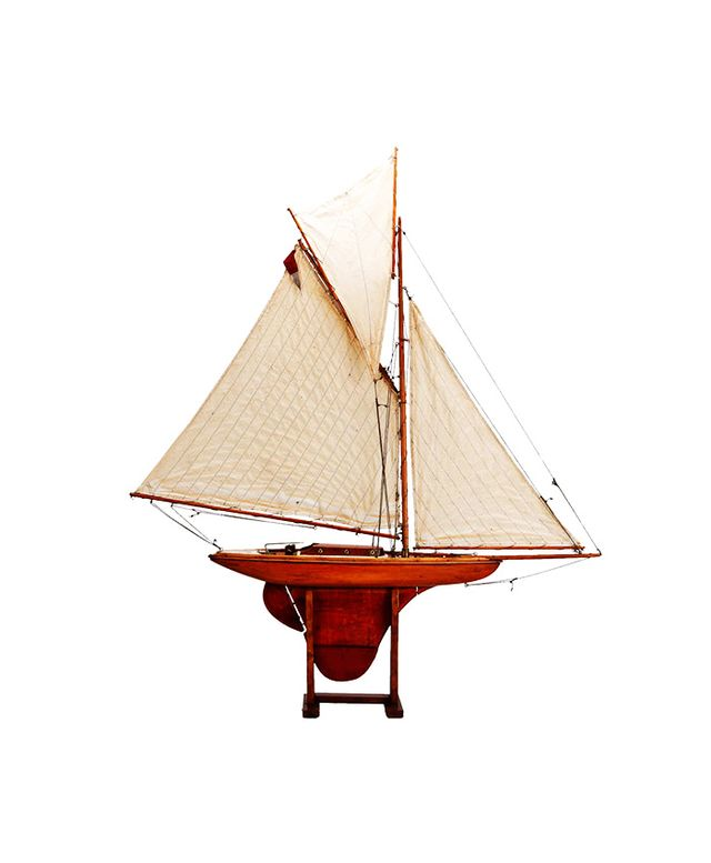 1st Dibs Large English Three Sail Pond Boat
