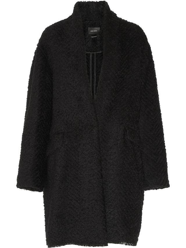 Isabel Marant Gabriel Herringbone Bouclé Coat